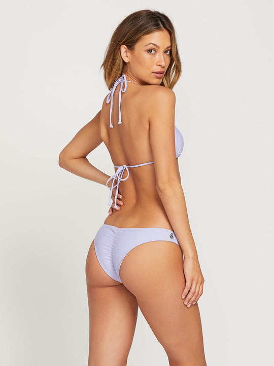 Simply Solid V Bottoms In Violet, Front View