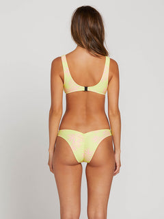 Take A Neon V Bottoms In Neon Yellow, Back View