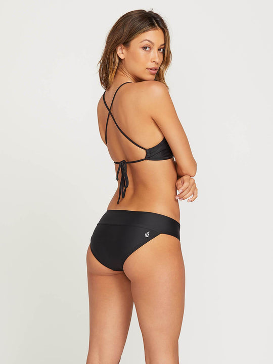 Simply Solid Modest Bottoms In Black, Front View