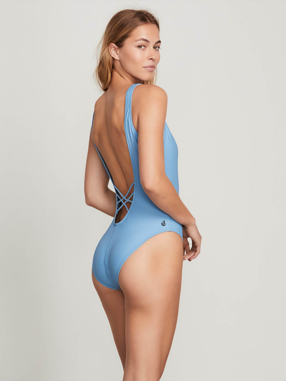 Simply Solid 1 Piece In Sandy Indigo, Back View