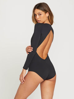 Simply Seamless Bodysuit In Black, Alternate View