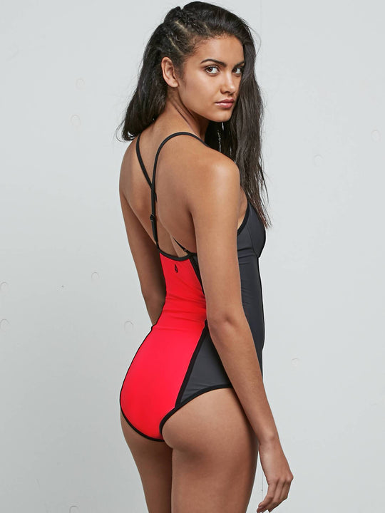 Gmj Core 1 Piece In Electric Coral, Back View