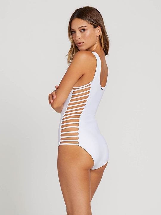 Gmj X Volcom 1 Piece In White, Back View