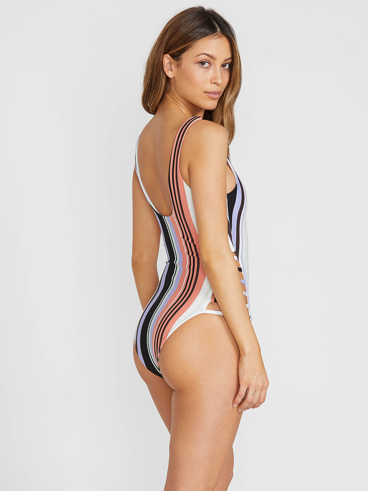 Stripe Tease 1 Piece In Multi, Back View