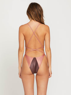 That's Metal 1 Piece In Mauve, Back View