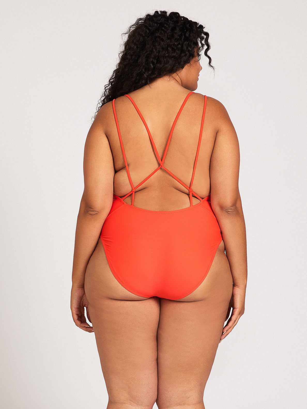Simply Solid One-Piece Plus Size - Electric Coral (O3012000P_ELC) [1]