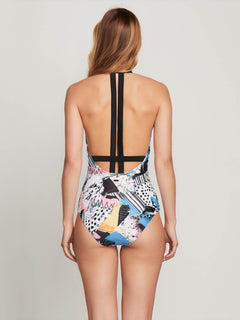 Collage Dropout 1 Piece In Black, Back View