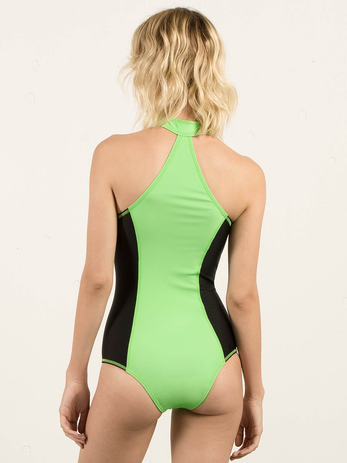 Gmj 1 Piece In Electric Green, Back View