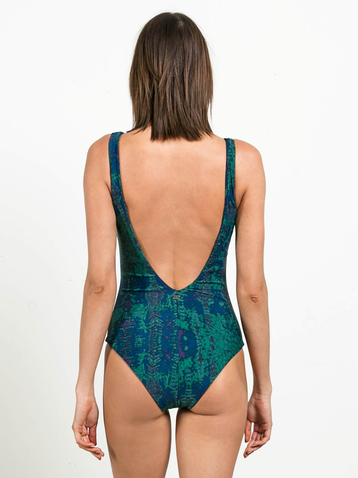 Gmj Stone Row 1 Piece In Midnight Green, Back View