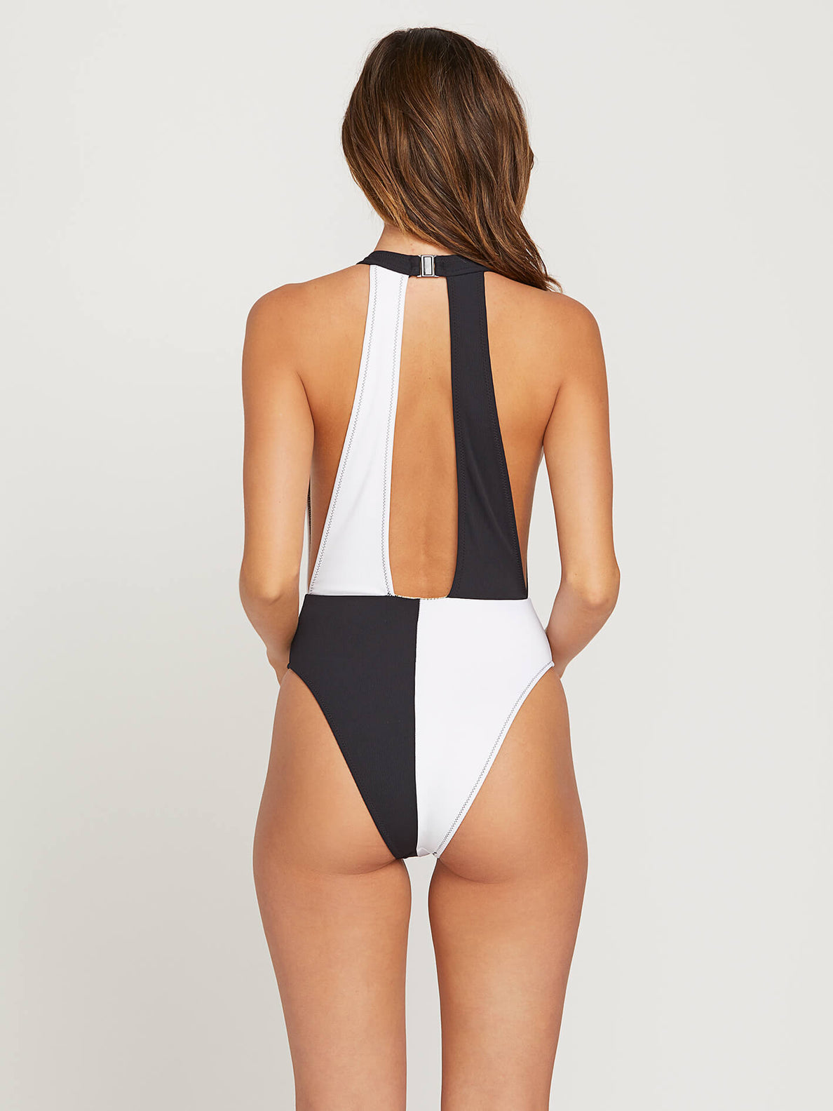 Simply Rib 1 Piece In Black, Back View
