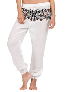 Friends Forever Pants In White, Front View