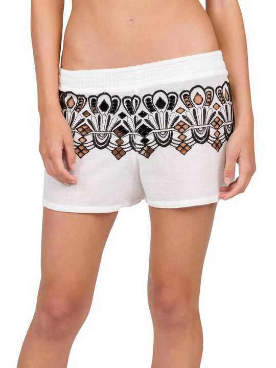 Friends Forever Shorts In White, Front View