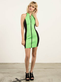 Gmj Dress In Electric Green, Second Alternate View
