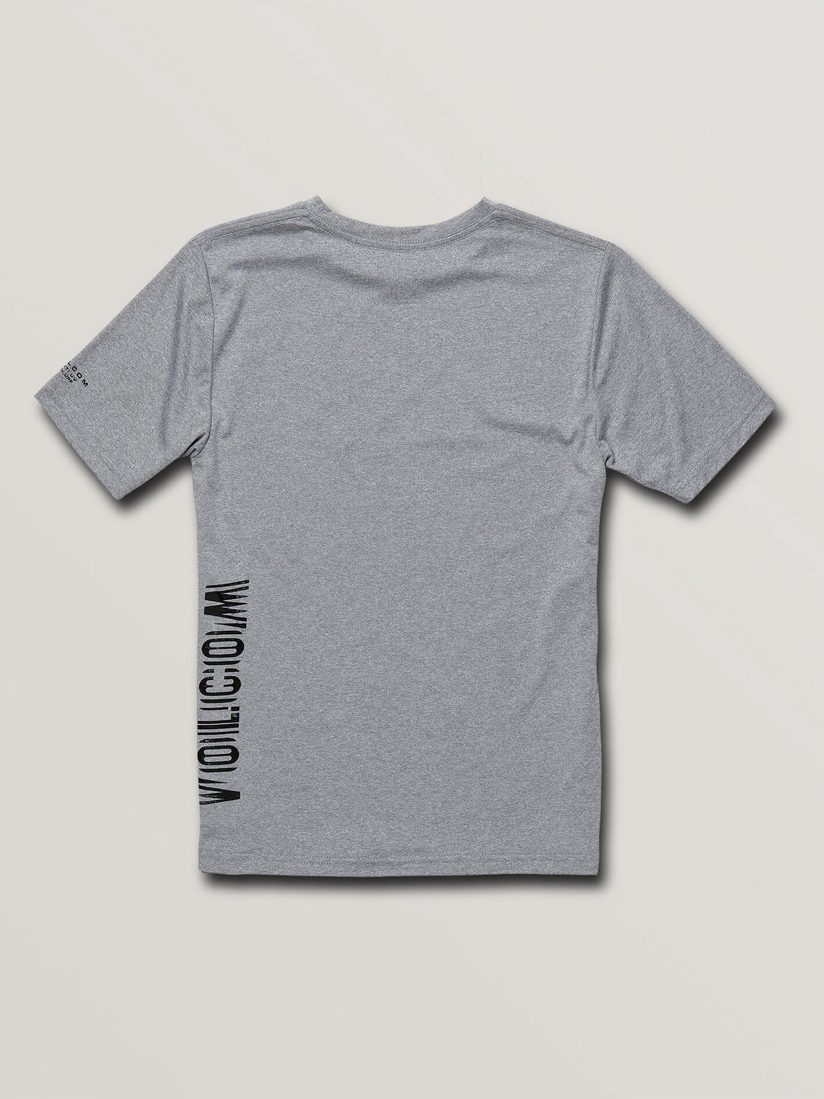 Big Boys Sounder Short Sleeve Rashguard In Pewter, Back View