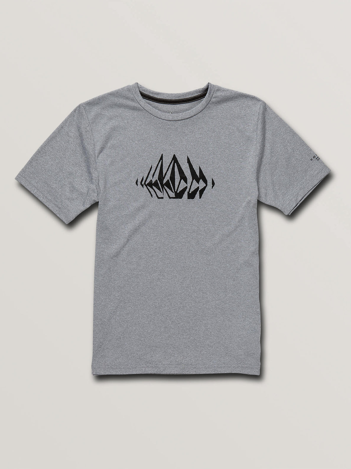 Big Boys Sounder Short Sleeve Rashguard In Pewter, Front View