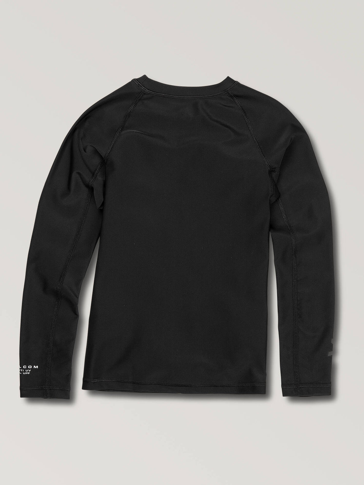 Big Boys Lido Solid Long Sleeve Rashguard In Black, Back View