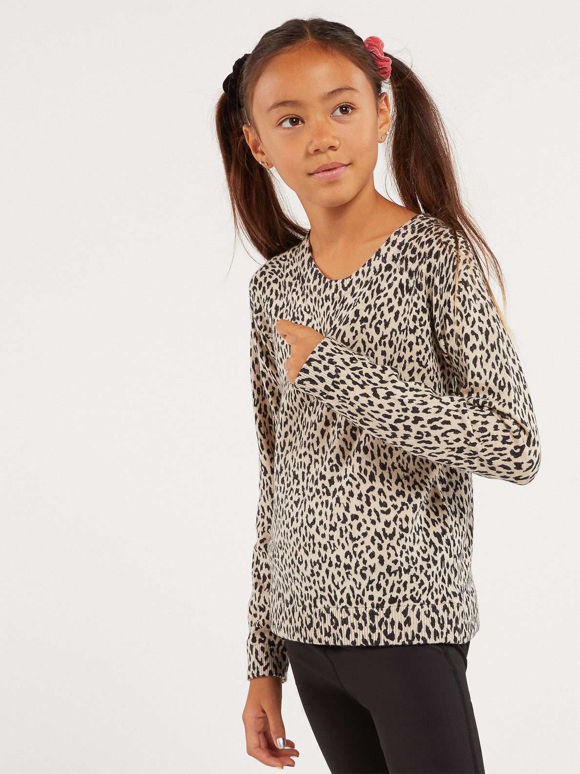 Big Girls Over N Out Sweater - Leopard (R0732000_LEO) [60]