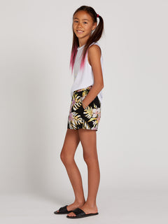 Not Real Shore Shorts - Black Floral Print (R0912001_BFP) [1]