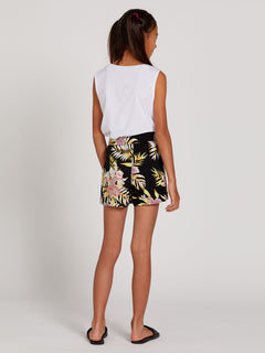 Not Real Shore Shorts - Black Floral Print (R0912001_BFP) [B]