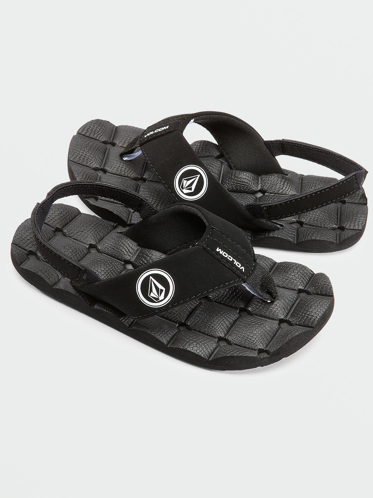 Little Boys Recliner Sandal - Black White (U0811520_BWH) [F]