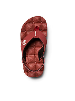 Little Boys Recliner Sandals In Crimson, Alternate View