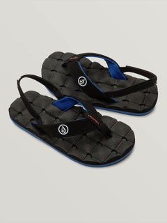 Little Boys Recliner Sandal - Star White (U0811520_SWH) [F]