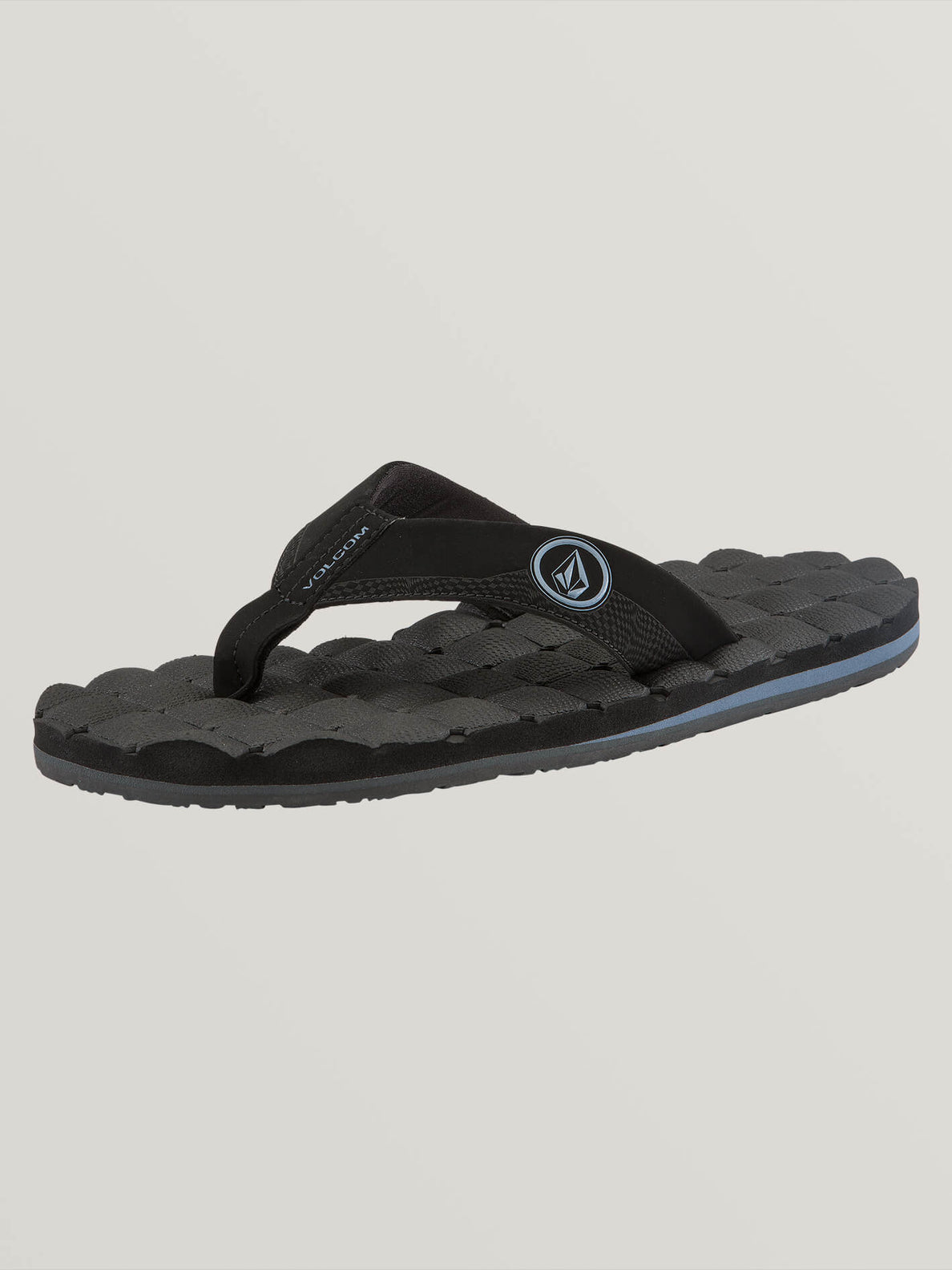 Recliner Sandals In Blue Black, Back View
