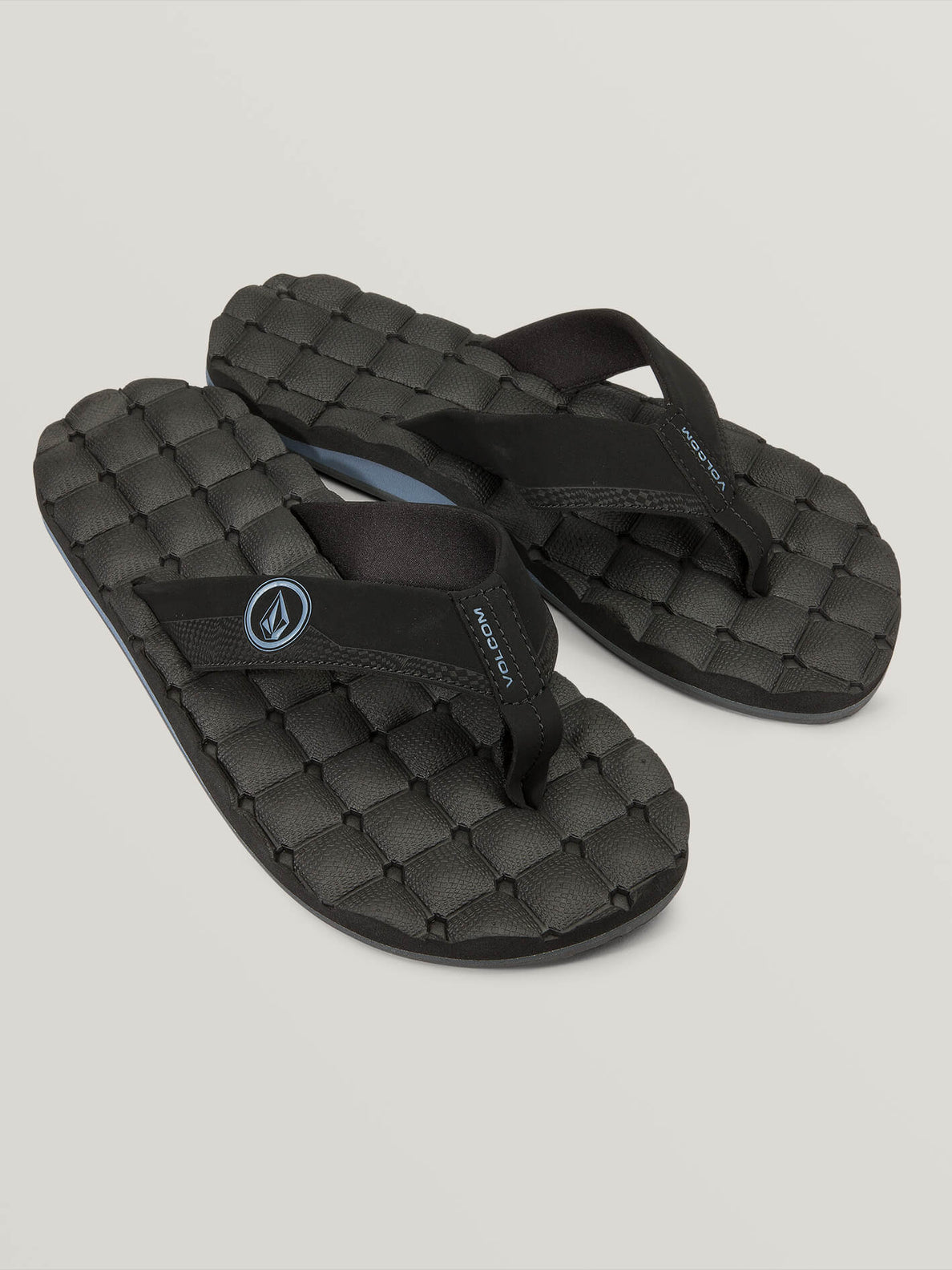 Recliner Sandals In Blue Black, Front View