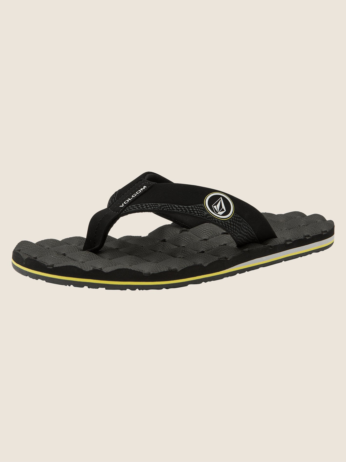 Recliner Sandals In Sulfur Black, Back View