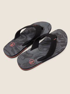 Victor Sandals In Black Rinser, Front View