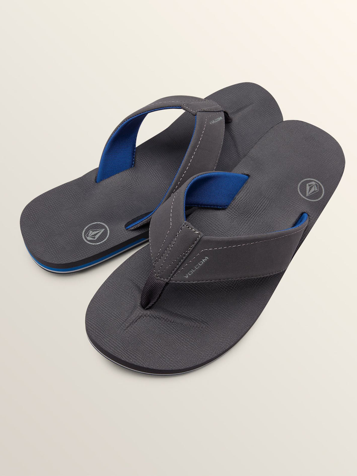 Victor Sandals In Gunmetal Grey, Front View