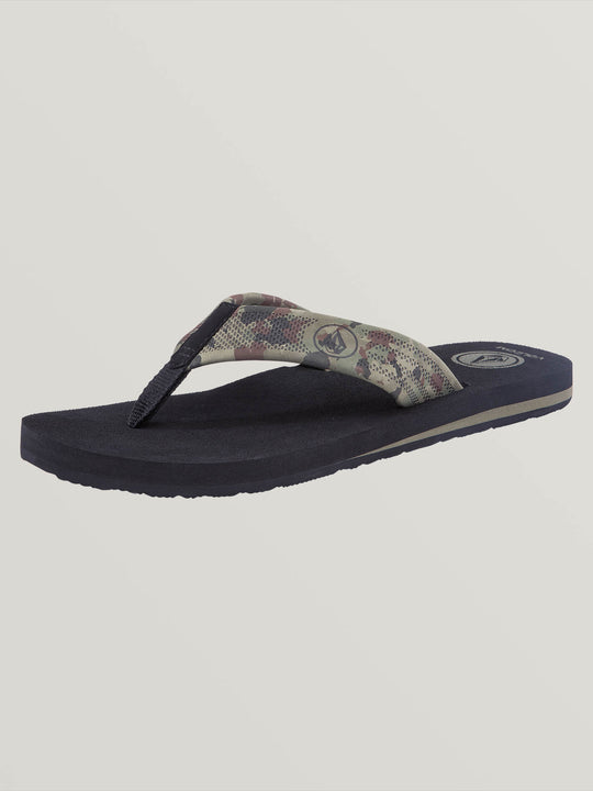 Daycation Sandals In Dark Camo, Back View