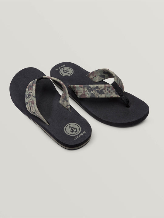Daycation Sandals In Dark Camo, Front View