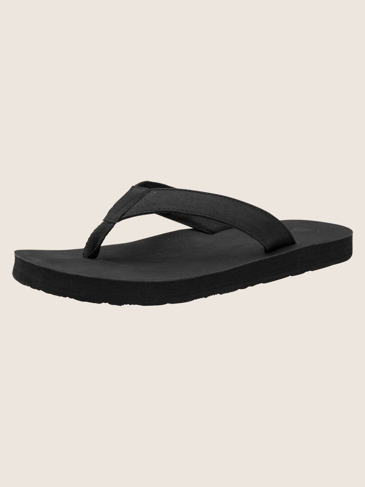 Fathom Sandals In Black, Back View