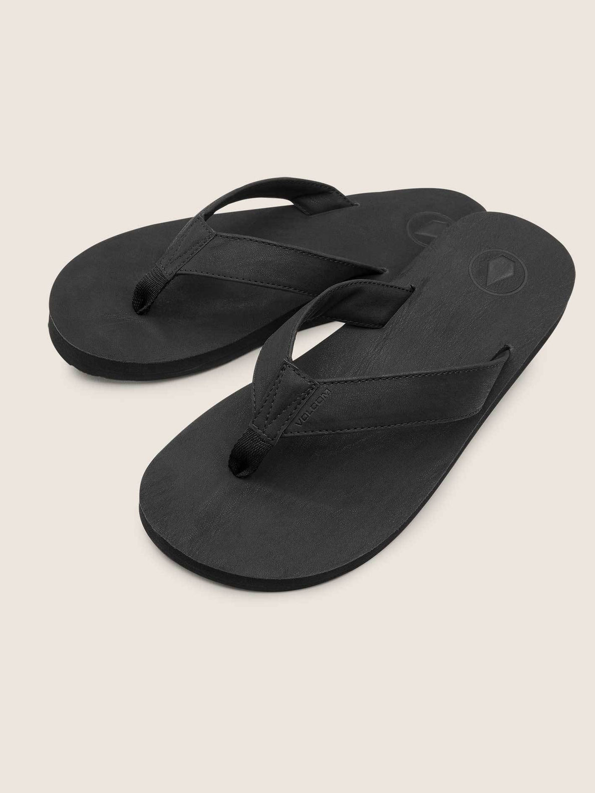 Fathom Sandals In Black, Front View