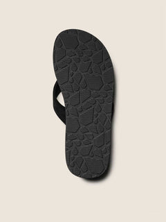 Driftin Leather Sandals In Black, Second Alternate View