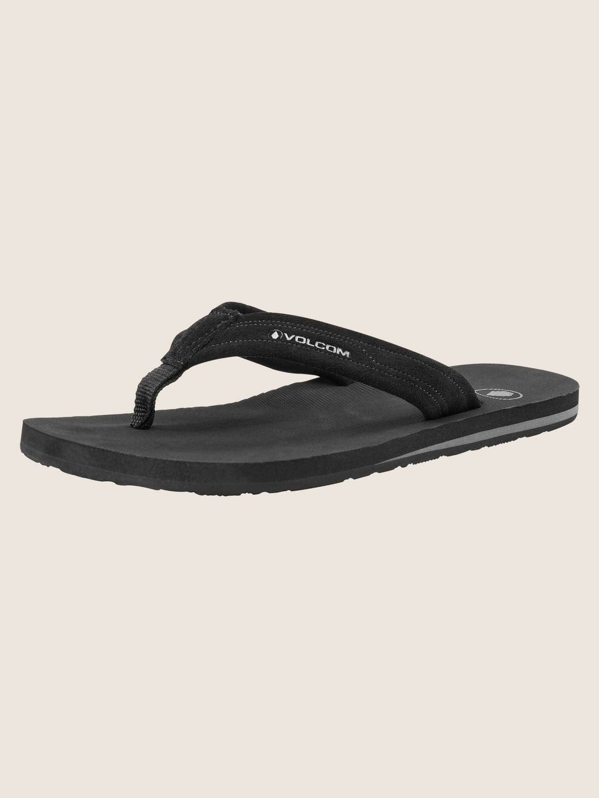 Driftin Leather Sandals In Black, Back View