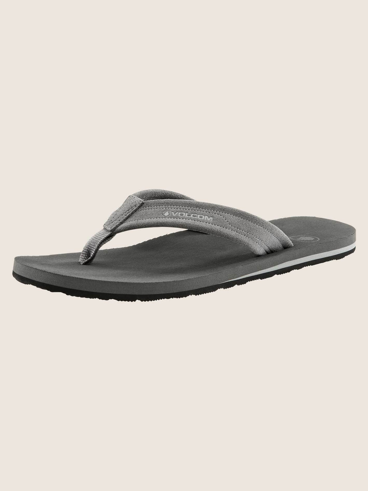 Driftin Leather Sandals In Neutral Grey, Back View