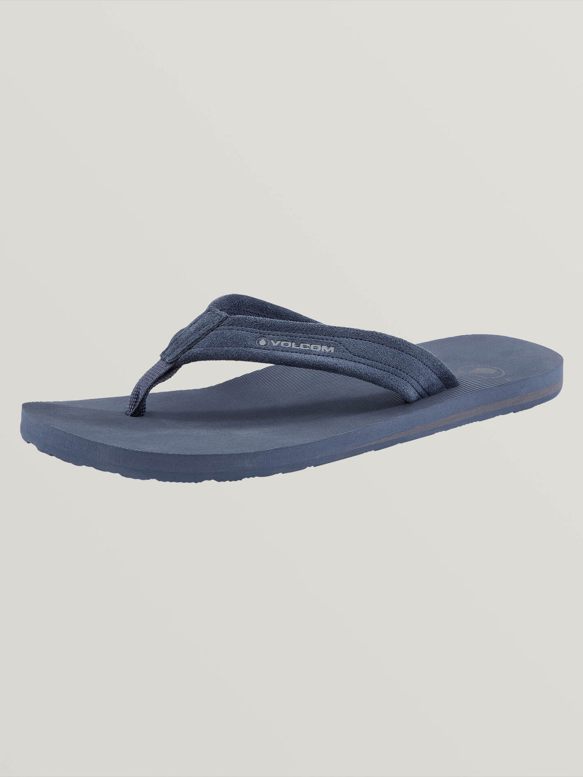 Driftin Leather Sandals In Slate Blue, Back View