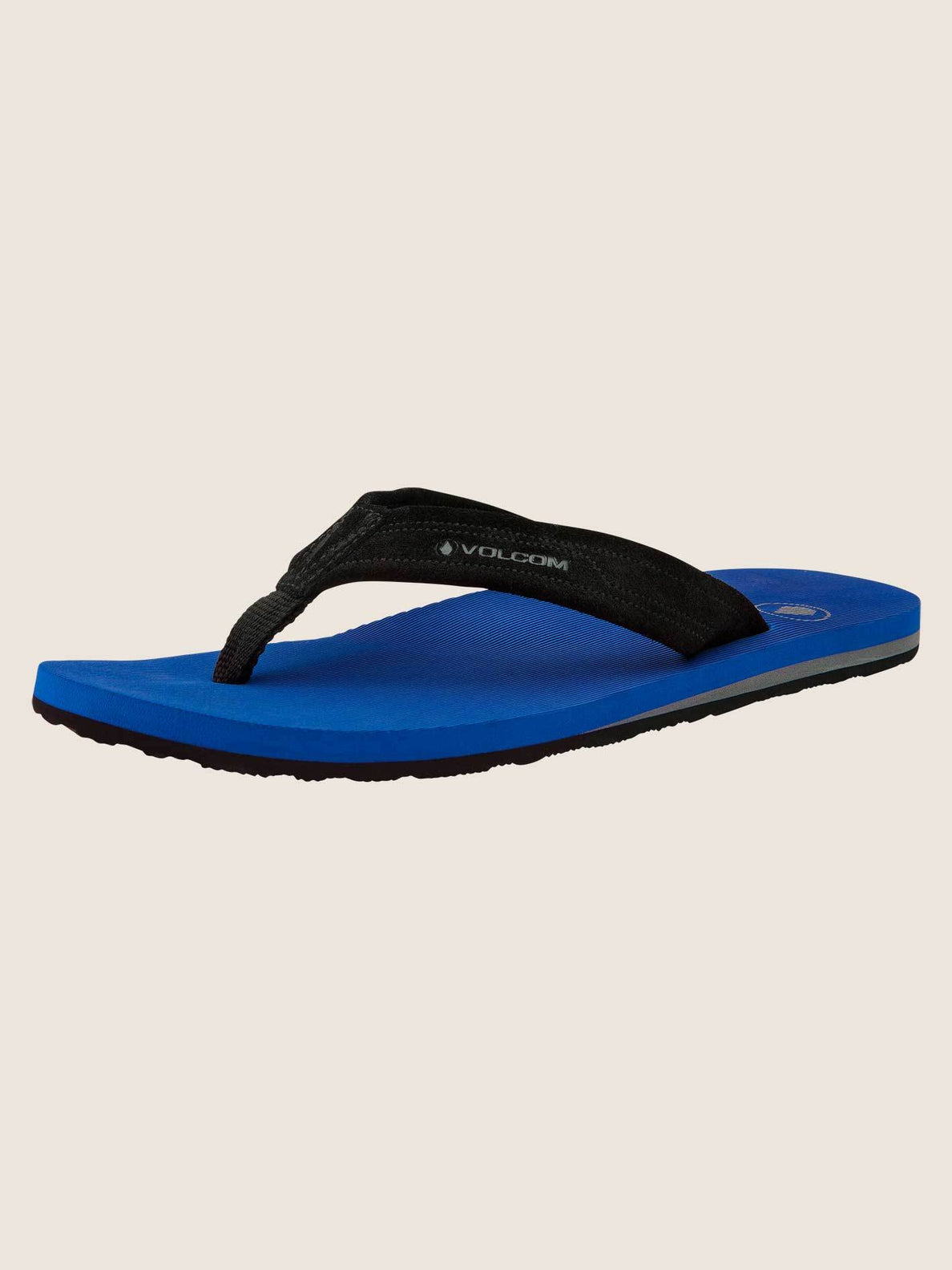 Driftin Leather Sandals In True Blue, Back View