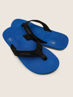Driftin Leather Sandals In True Blue, Front View