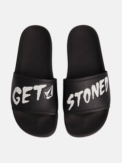 Don't Trip Unisex Slide Sandals In Stoney Black, Alternate View