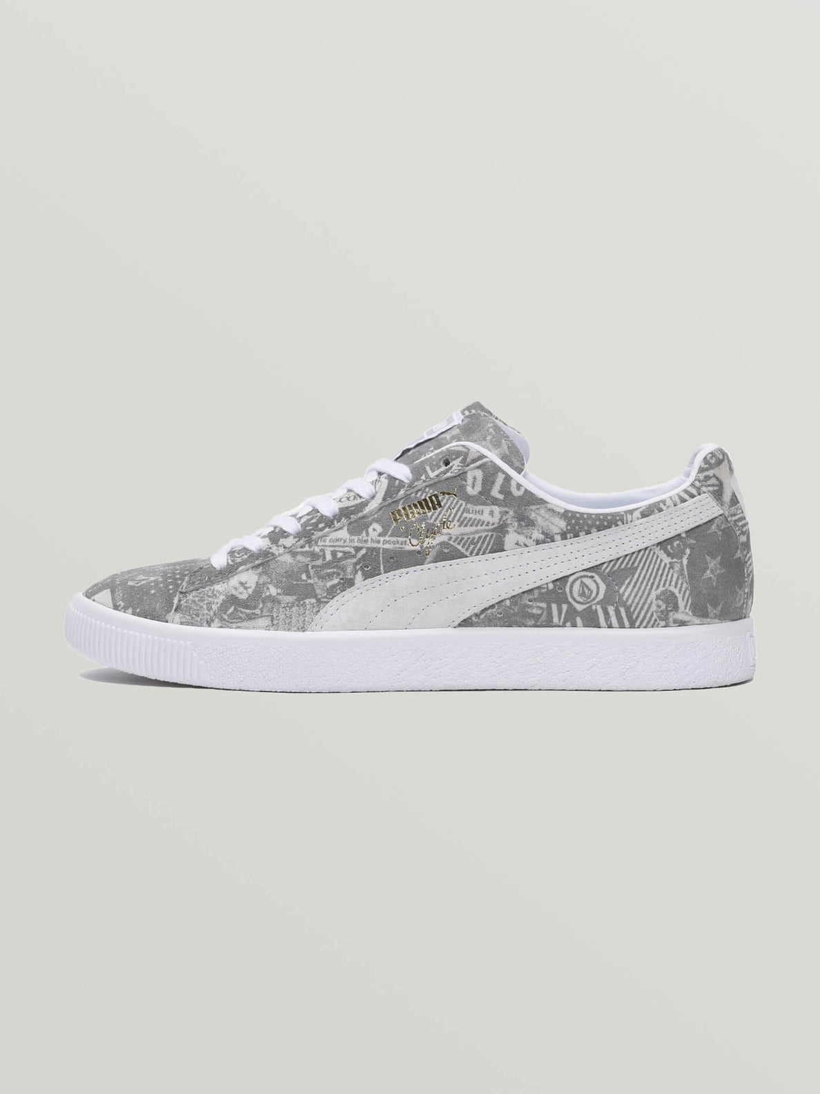 Puma Clyde X Volcom In White, Alternate View