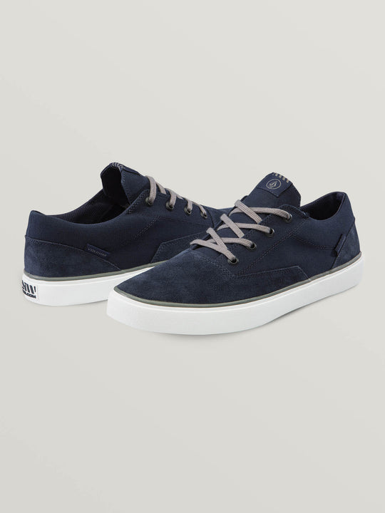 Draw Lo Suede Shoes In Blue Combo, Front View