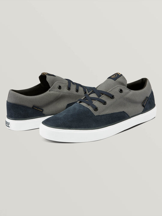 Draw Lo Suede Shoes In Navy Heather, Front View