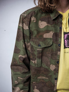 Huckster Long Sleeve Shirt In Army, Second Alternate View