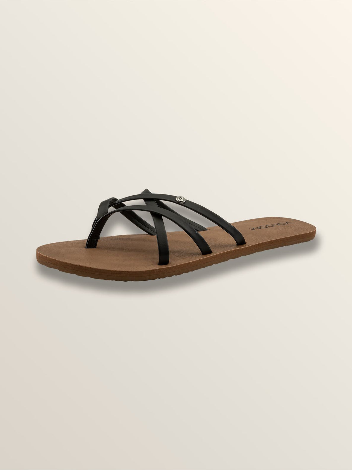 New School Sandals In Black, Back View