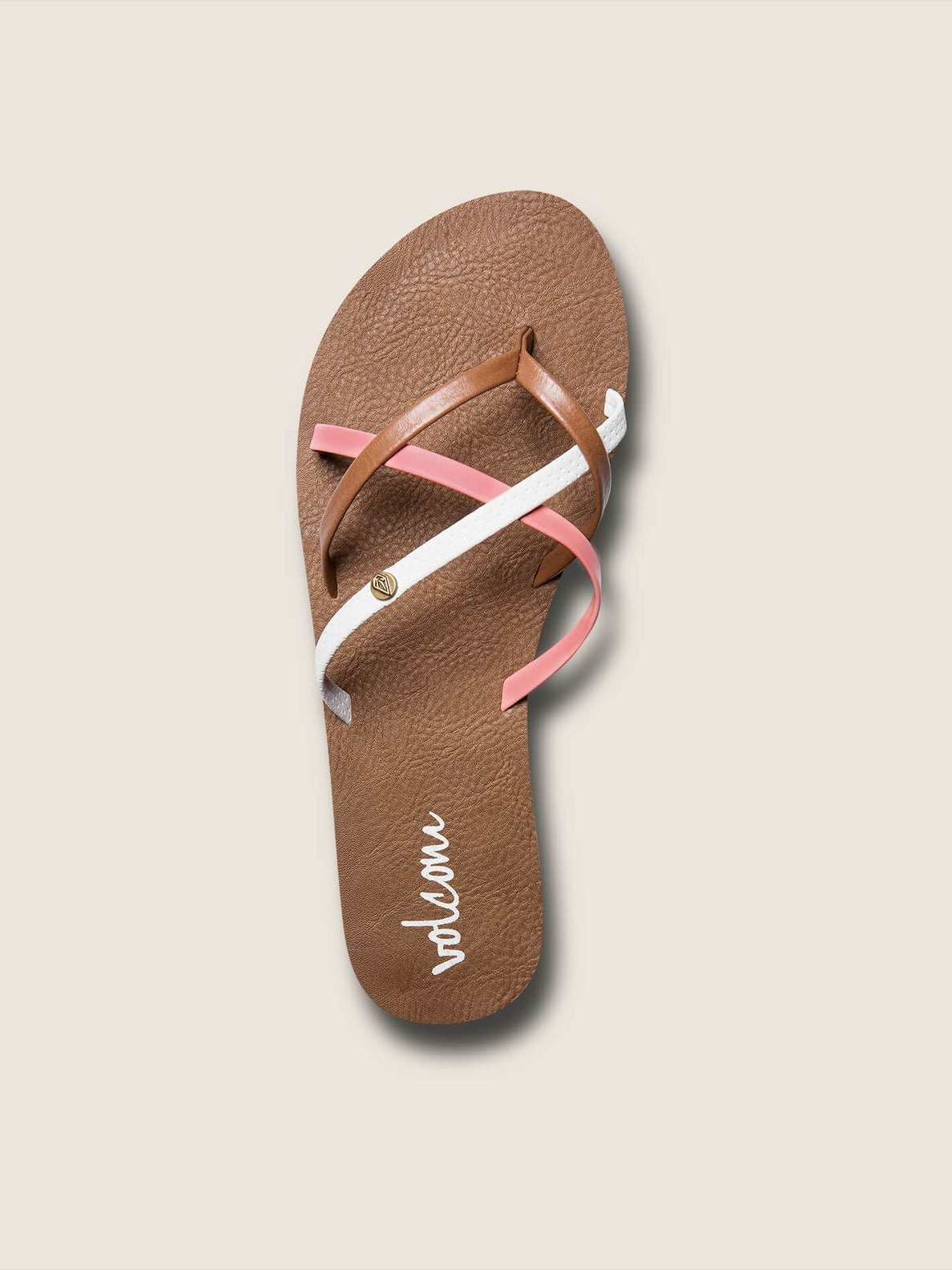 New School Sandals In Coral, Alternate View