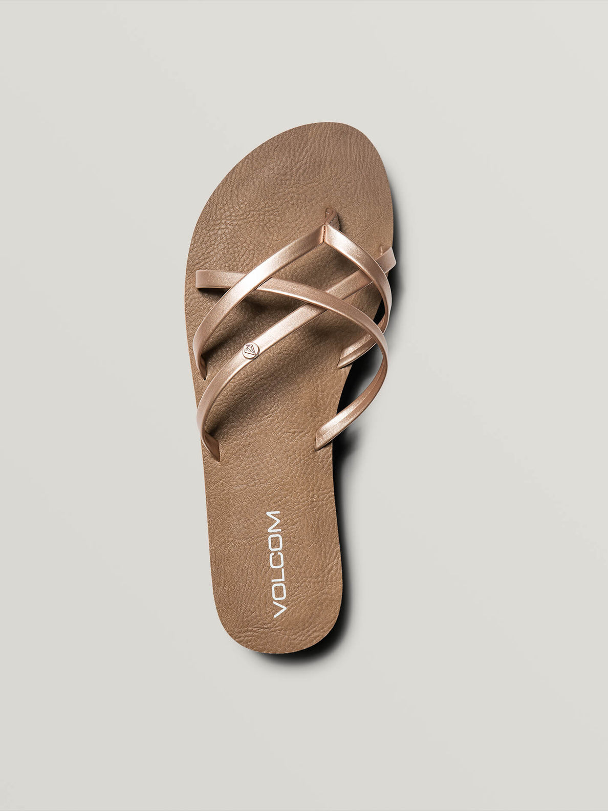 New School Sandals In Rose Gold, Alternate View