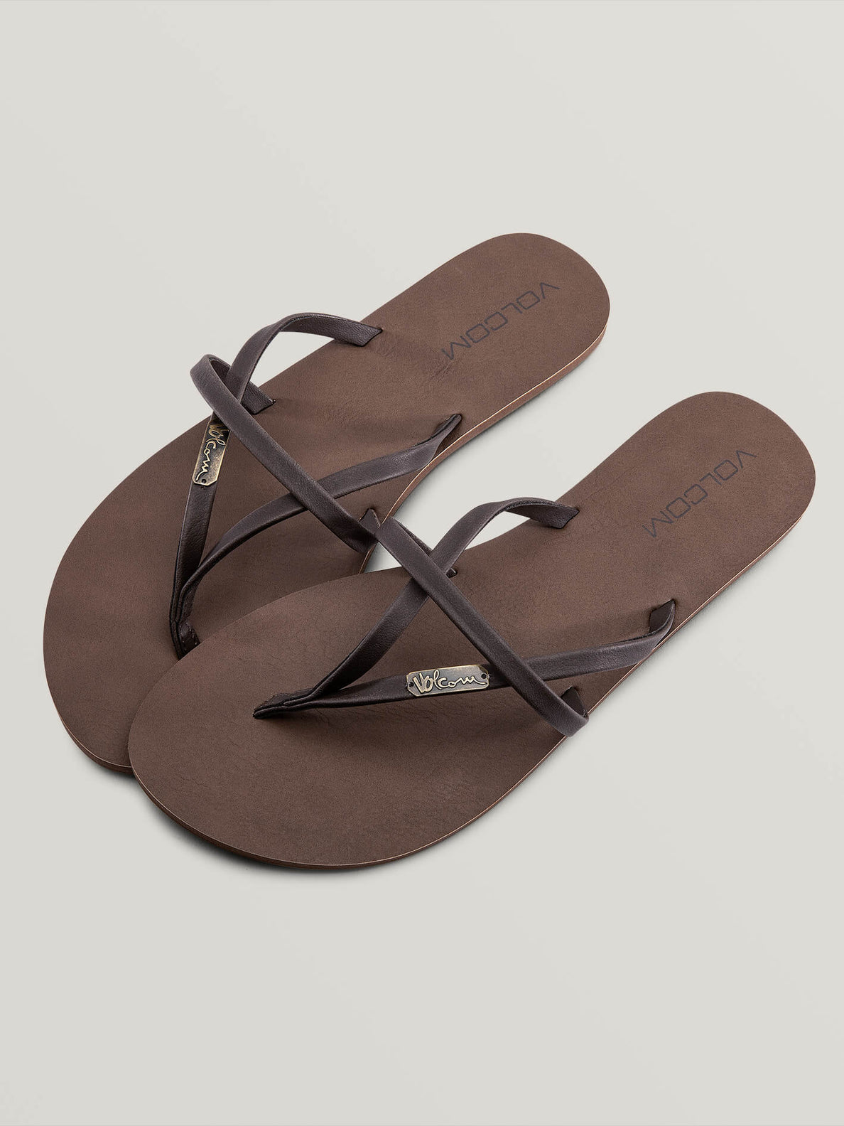 All Night Long Sandals In Brown, Front View